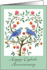 Blue Dove Happy 8th Anniversary card