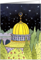 Ramadan Golden Mosque card