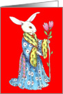 Chinese New Year Rabbit, Red Hare card