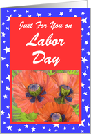 Labor Day Red Poppies card