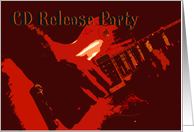 CD Release Party Invitation card
