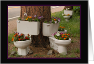 Flower Power Toilets card