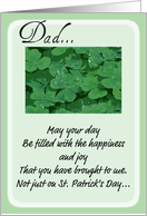 St. Patrick's Day Dad card