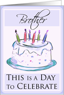 Happy Birthday Brother card