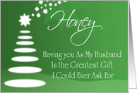 Merry Christmas Husband card