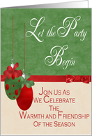 Christmas/Holidiay Party Invitation card