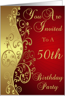 50th Birthday Party Invitation Card
