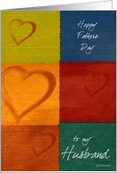 Patchwork Hearts-Husband's Fathers Day card