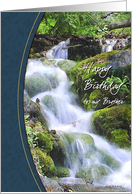Forest Stream Brothers Birthday Card