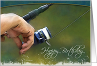 Fishing Reel - Birthday Card
