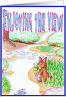 Enjoying the view card