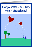 Valentine's - Grandsons card