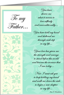 To My Father... card
