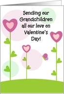 Happy Valentine's Day - Grandchildren card