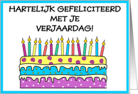 Dutch - Happy Birthday card