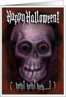 Patterned Skull Halloween card