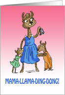 Mother's Day Llama Mama Llama Ding Dong card