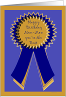 birthday mom mom blue ribbon card