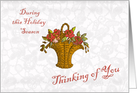 Thinking of you holiday season remembrance card