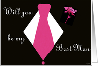 Be my Best Man card