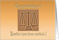 Law Partner Congratulations card