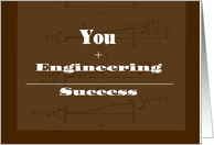 Congratulations for Passing Engineering Exam/ Son Passes Engineer Test card