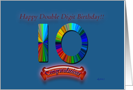 Happy Double Digit Birthday card