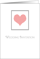 Wedding Invite scottish heart card
