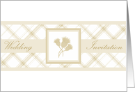 Wedding Invite gold thistle trio card