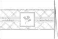 Wedding Invite silver thistle trio card