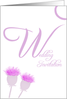 Wedding Invite pink thistle card