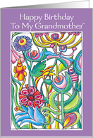 Happy Birthday Grandmother Garden Bouquet card
