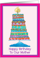 Happy Birthday to Our Mother Party Cake card
