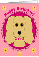 Happy Birthday! Cocker Spaniel card