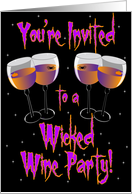 Wicked Wine Party card