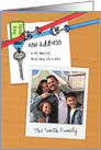 New Address With House Key Photo Insert Invitation card