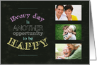 Opportunity To Be Happy Photo Insert Encouragement Card