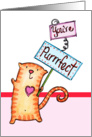 You're Purrfect Kitty Cat Valentine's Day card
