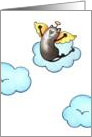 Oh Happy Day, Cat Angel Taking A Ride On Cloud Nine Card