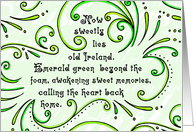 Old Ireland Poem St. Patrick's Day Card