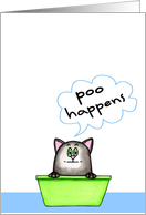 Poo Happens Cat card