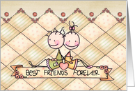 Friendship Day Card - Cute Stick Figures card