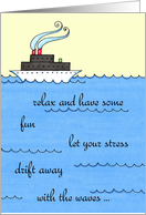 Bon Voyage - Cruise Ship Card