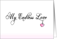 My Endless Love Engagement Announcement card