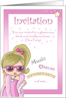 Diva Party Invitation! card