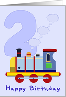 Happy 2nd Birthday Train card