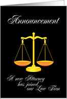 Announcement of a new attorney card