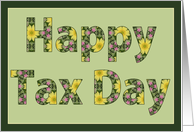 Happy Tax Day card