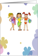 love/Friendship/Pool Party-Girlfriends Card