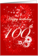 Happy Birthday - 100th card